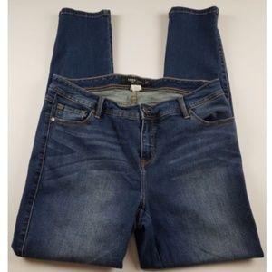 Torrid Skinny Ankle Jeans Medium Wash Denim